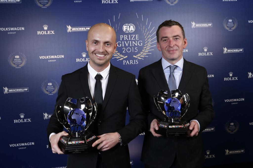 Kajetan Kajetanowicz and Jaroslow Baran, portrait during the FIA Prize Giving 2015 on December 4th 2015, at Paris, France. Photo Jean Michel Le Meur / DPPI